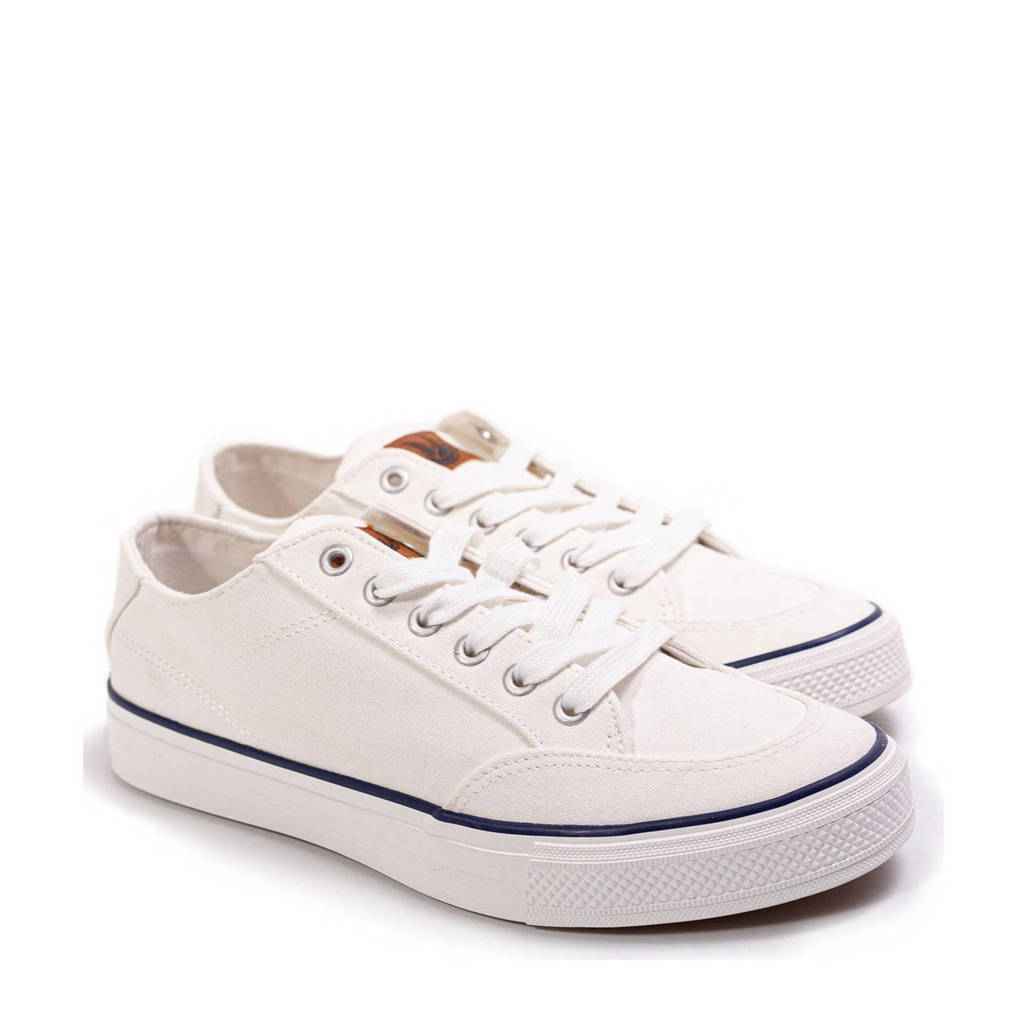 WE Fashion   canvas sneakers wit, Wit