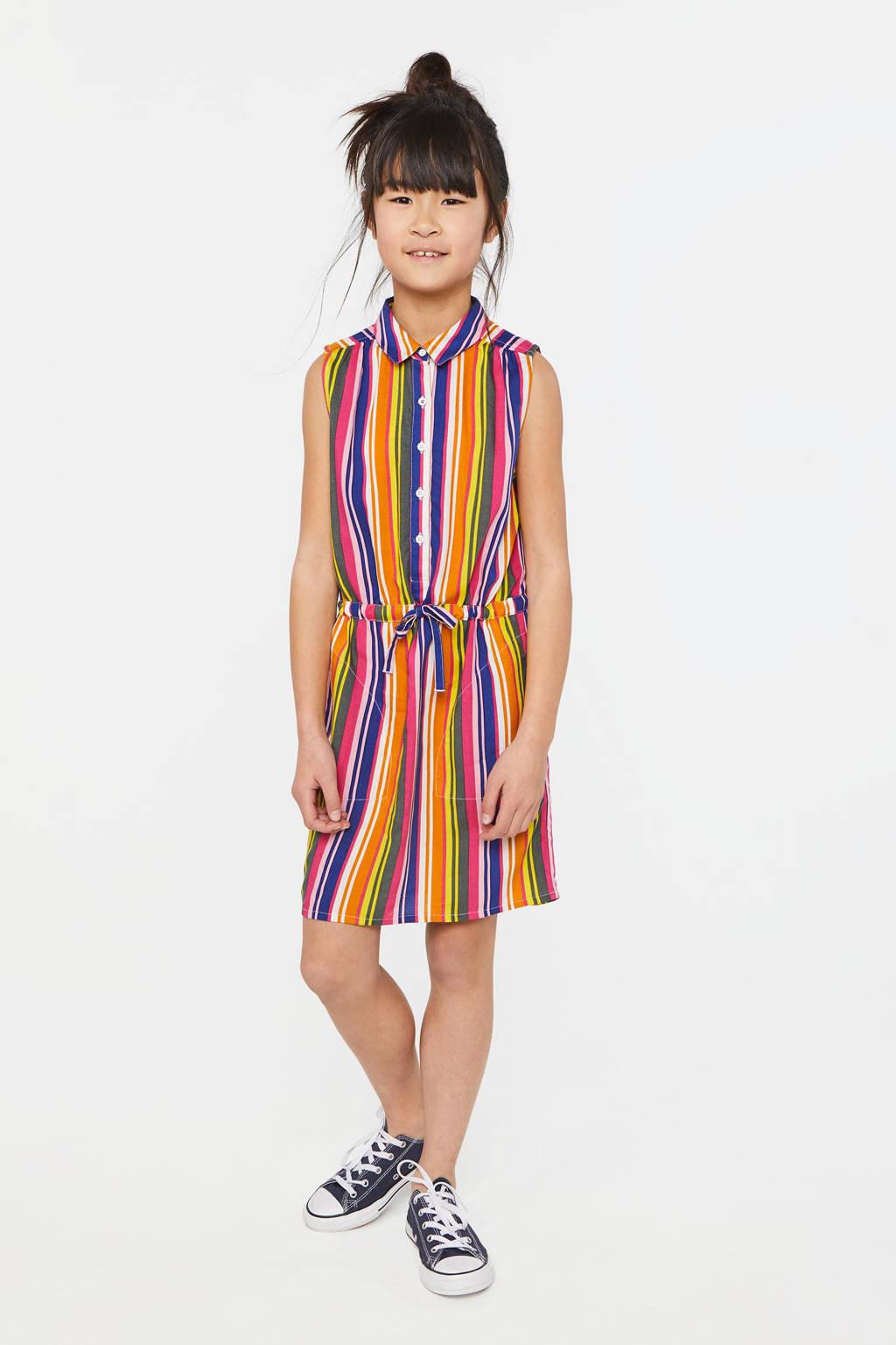 WE Fashion gestreepte blousejurk multi, Multi