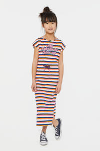WE Fashion gestreepte maxi jurk multi, Multi