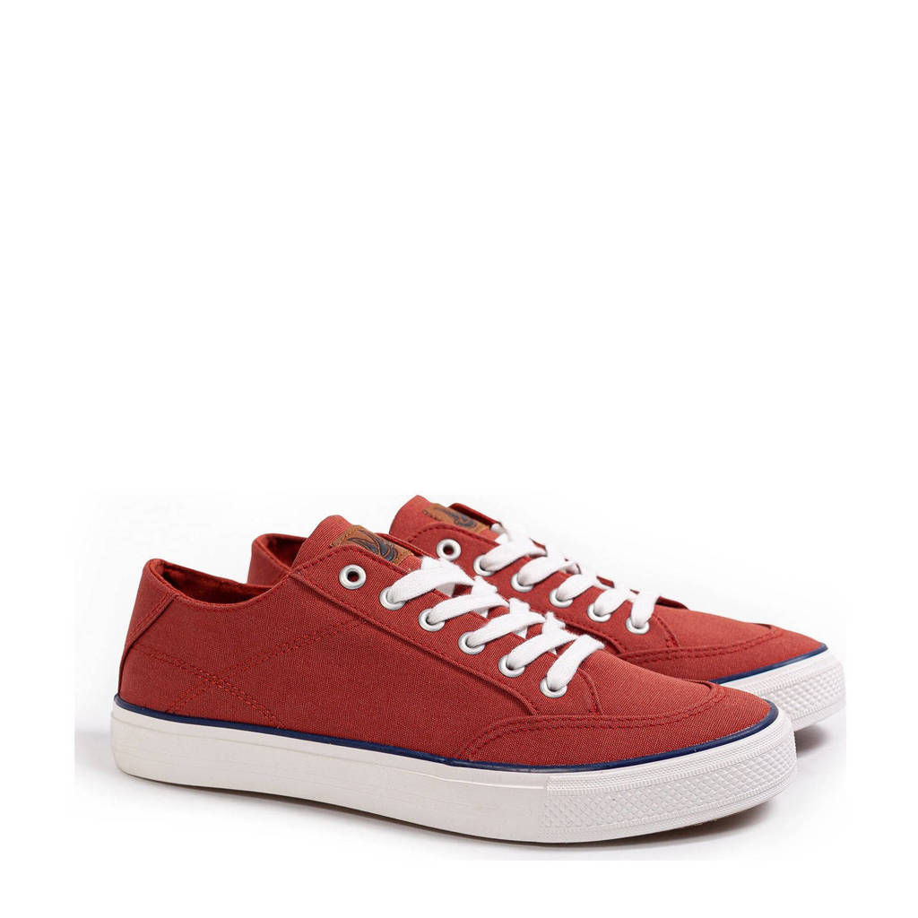 WE Fashion   canvas sneakers roodbruin, Roodbruin