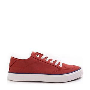 canvas sneakers roodbruin