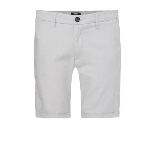 WE Fashion straight fit bermuda light grey