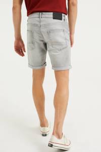 WE Fashion regular fit jeans short light grey denim, Light Grey Denim
