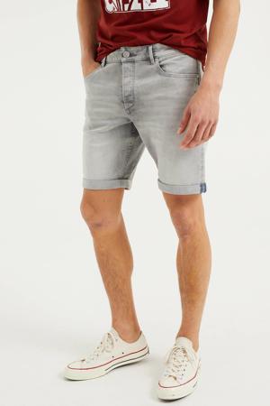 regular fit jeans short Rio Rex light grey denim