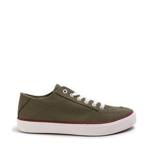 canvas sneakers olijfgroen