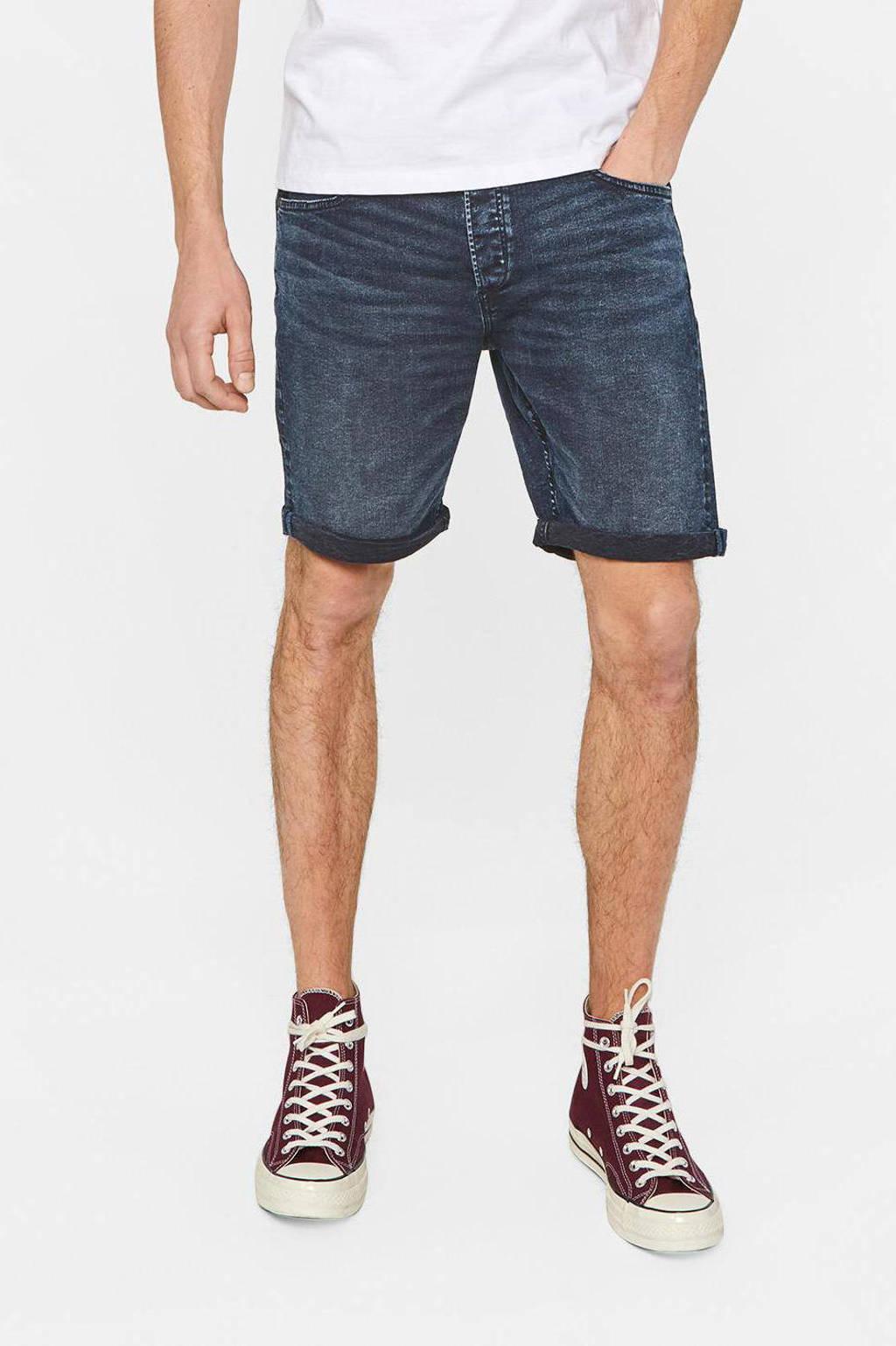 WE Fashion regular fit jeans short Rio Rex blue black denim