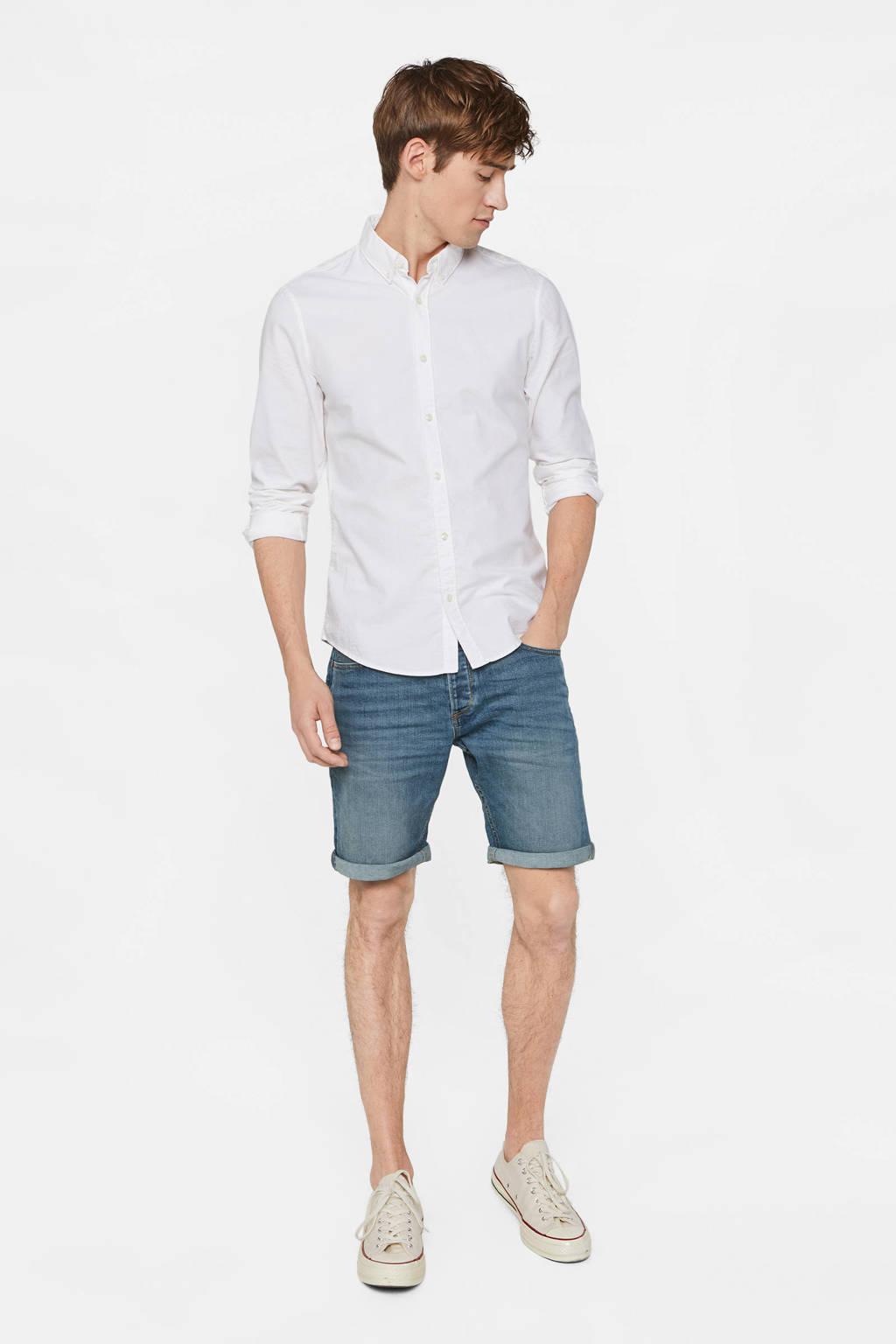 WE Fashion regular fit jeans short green cast denim, Green Cast Denim