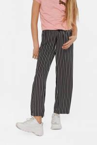 WE Fashion gestreepte loose fit broek zwart/wit, Zwart/wit