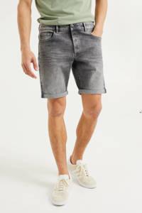 WE Fashion regular fit jeans short grey denim, Grey denim