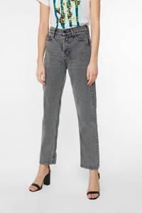 WE Fashion Blue Ridge high waist straight fit jeans grijs, Grijs
