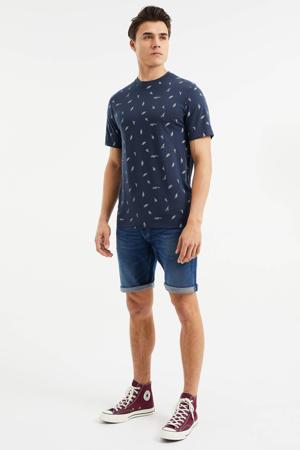regular fit jeans short used denim
