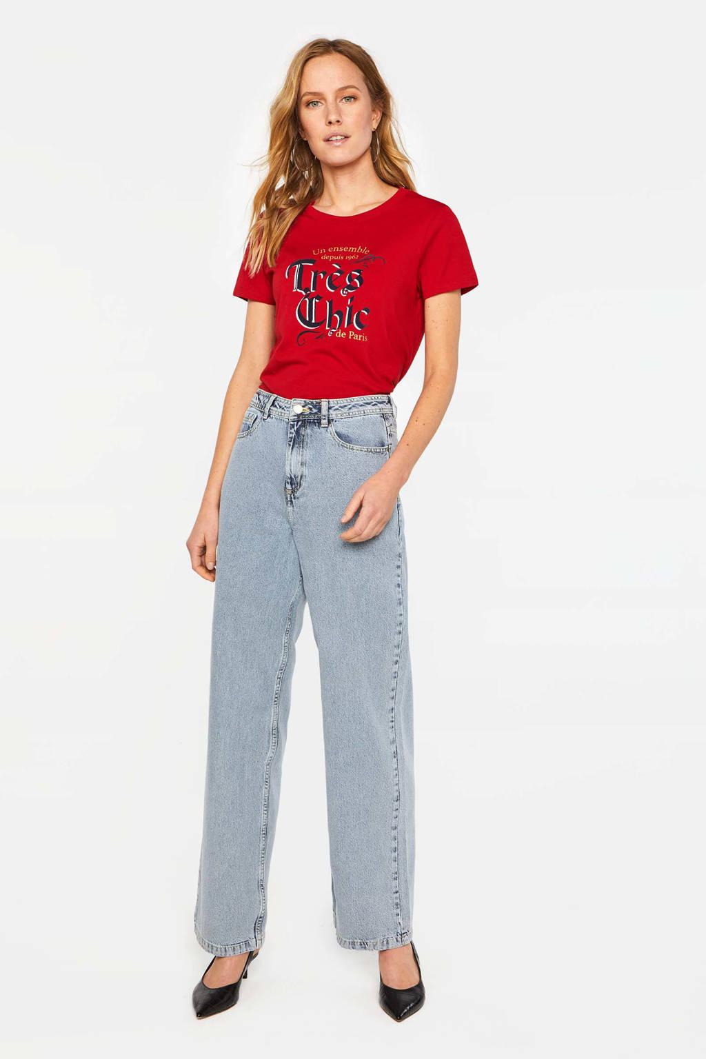 WE Fashion Blue Ridge high waist loose fit jeans light denim, Light denim