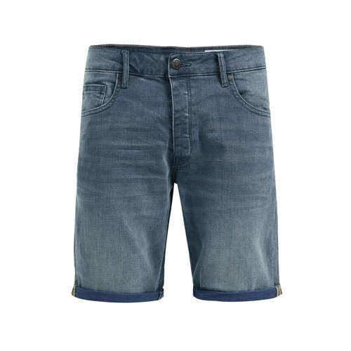 WE Fashion regular fit jeans short blue denim