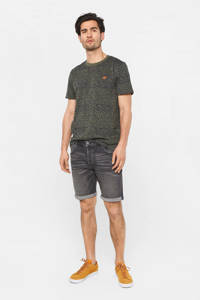 WE Fashion regular fit jeans short black denim, Black denim