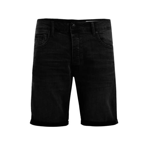 WE Fashion regular fit jeans short black denim