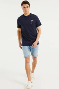 WE Fashion regular fit jeans short Rio Rex bleached denim, Bleached denim