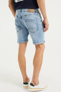 WE Fashion regular fit jeans short bleached denim, Bleached denim