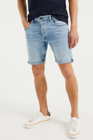 regular fit jeans short Rio Rex bleached denim