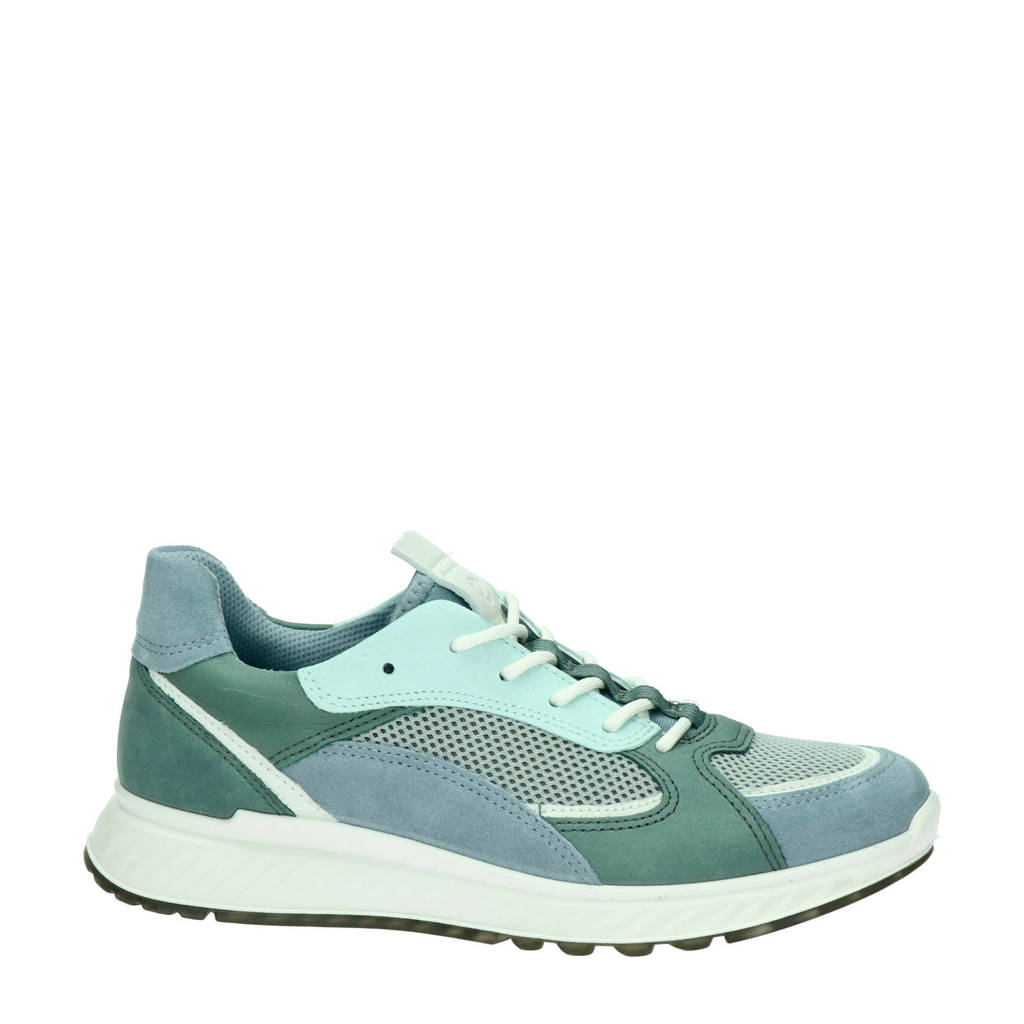 Ecco ST1 W  nubuck sneakers blauw/groen, Blauw/multi