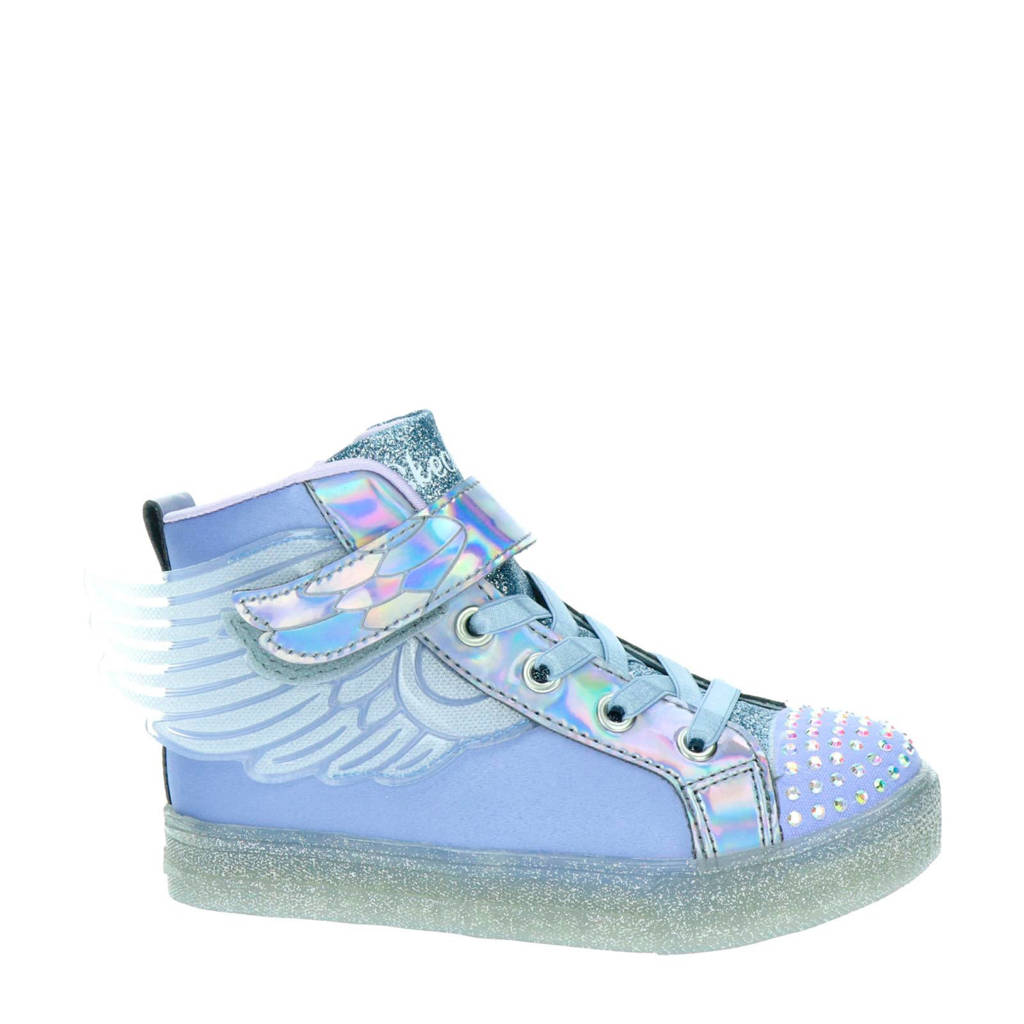 Skechers Twinkle Toes  halfhoge sneakers met lichtjes lila, Lila