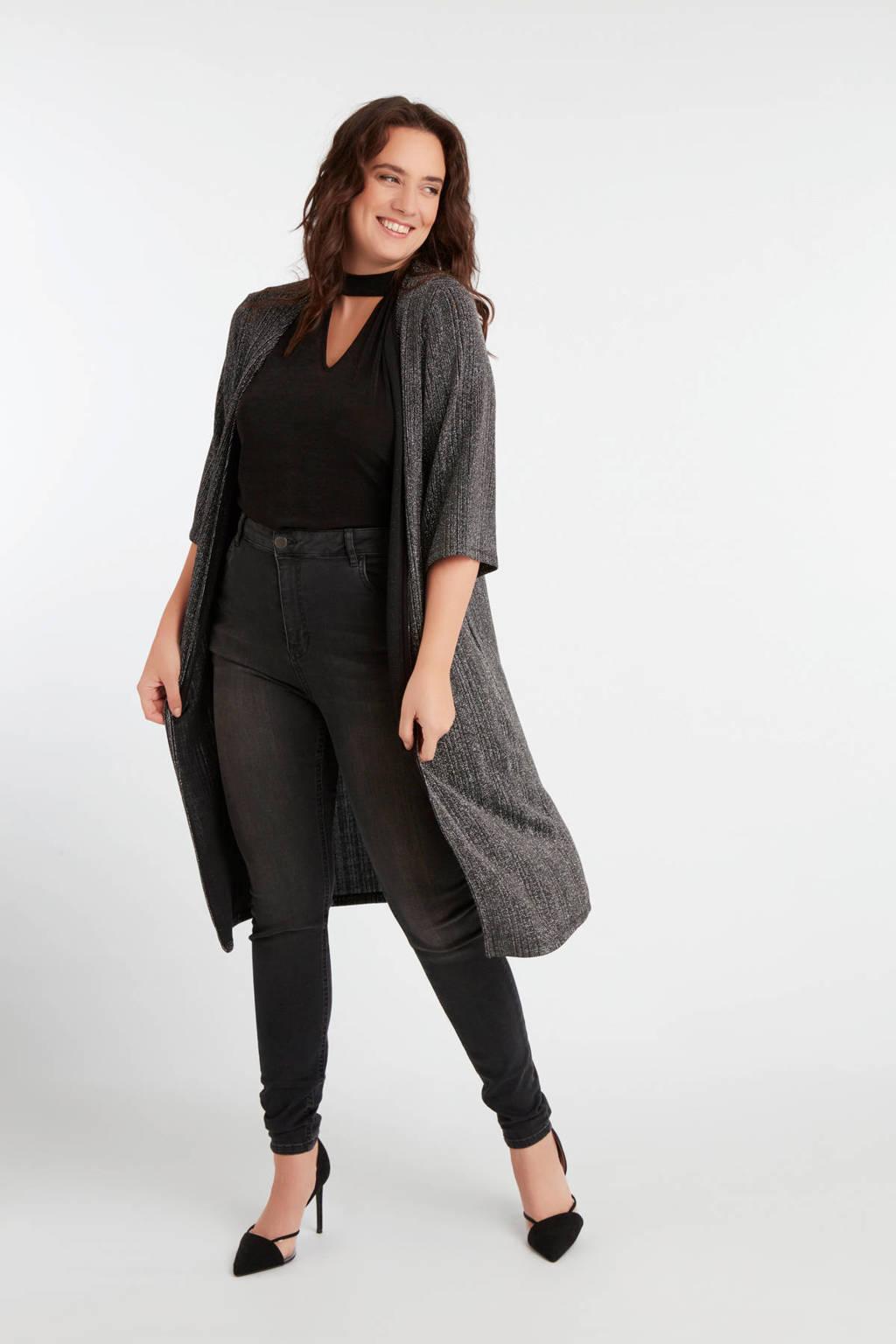MS Mode choker top zwart, Zwart