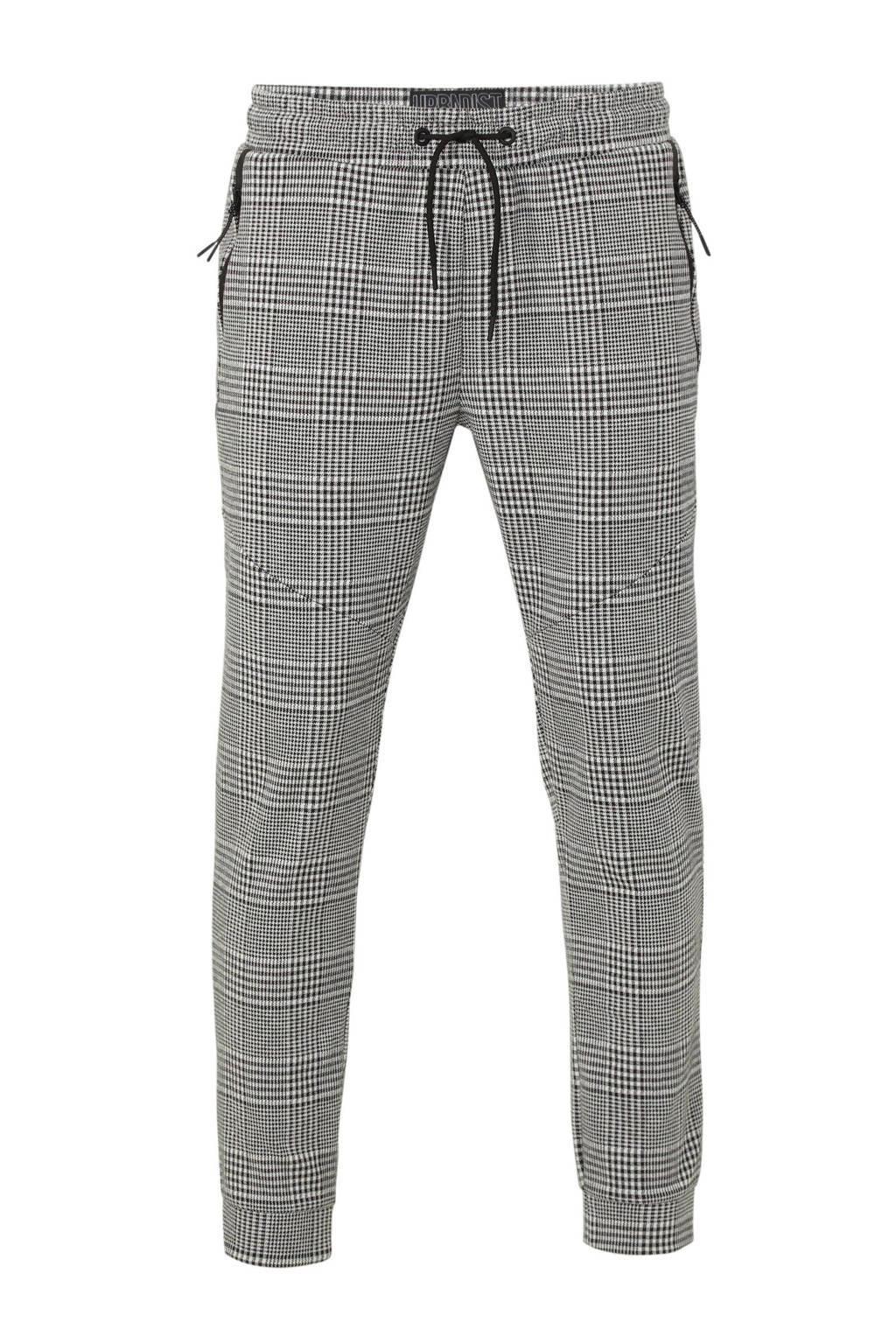 C&A Angelo Litrico regular fit joggingbroek met all over print zwart/wit, Zwart/wit
