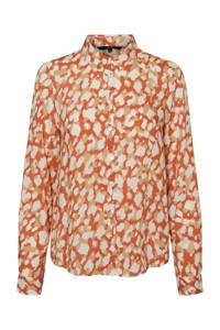 VERO MODA blouse met all over print oranje/beige, Oranje/beige