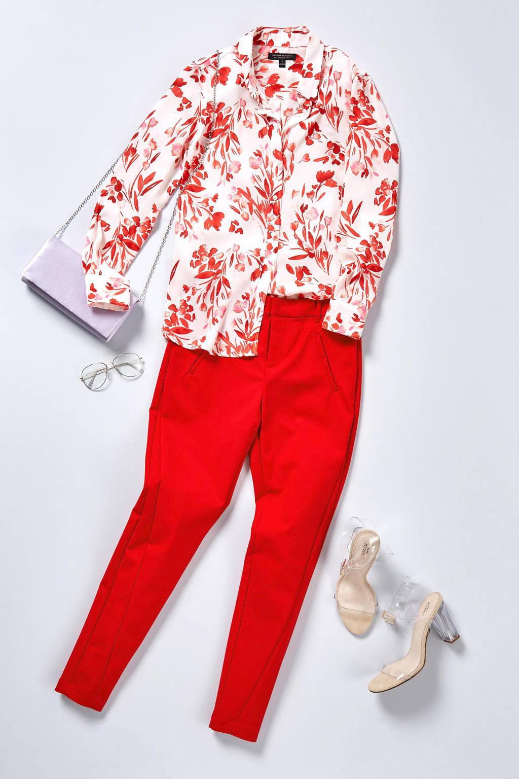 VERO MODA slim fit pantalon rood, Rood