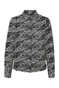 VERO MODA blouse met all over print grijs, Grijs
