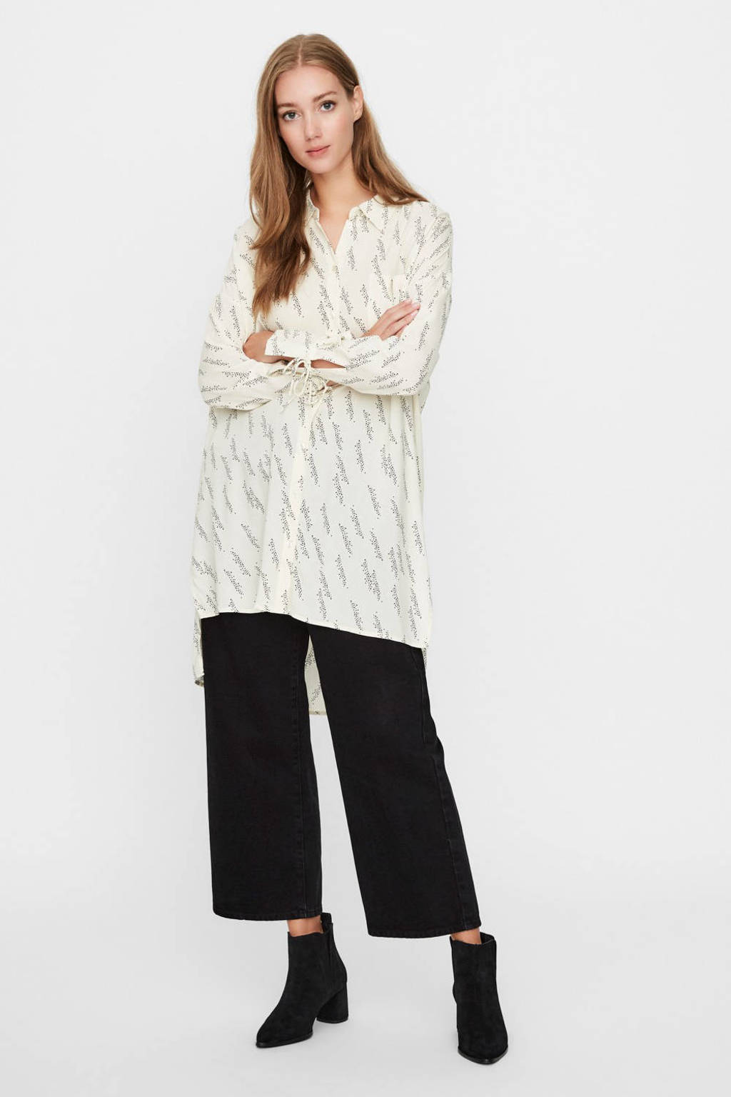 VERO MODA blouse met all over print wit, Wit