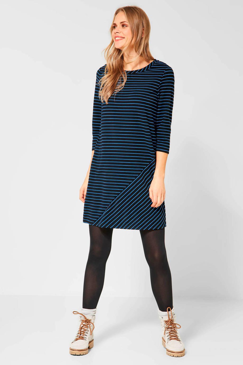 CECIL Jersey Stripe Patch Dress, Blauw