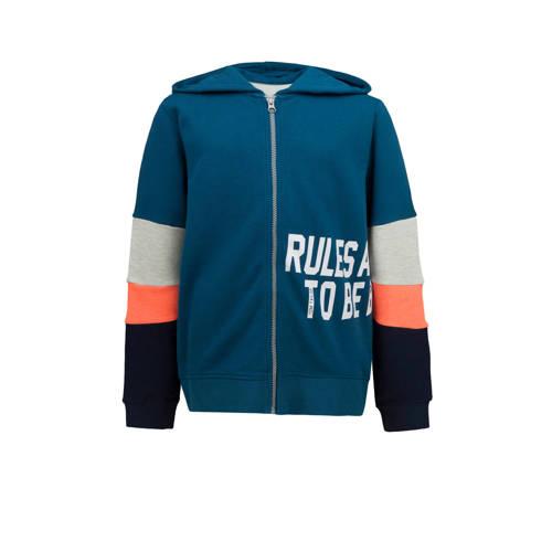 Tom Tailor vest blauw/oranje/grijs melange