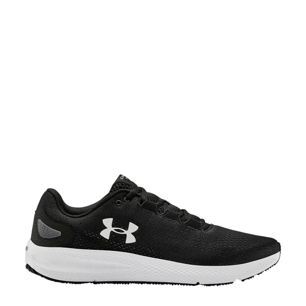 Under Armour Charged Pursuit 2 hardloopschoenen zwart, Zwart/wit