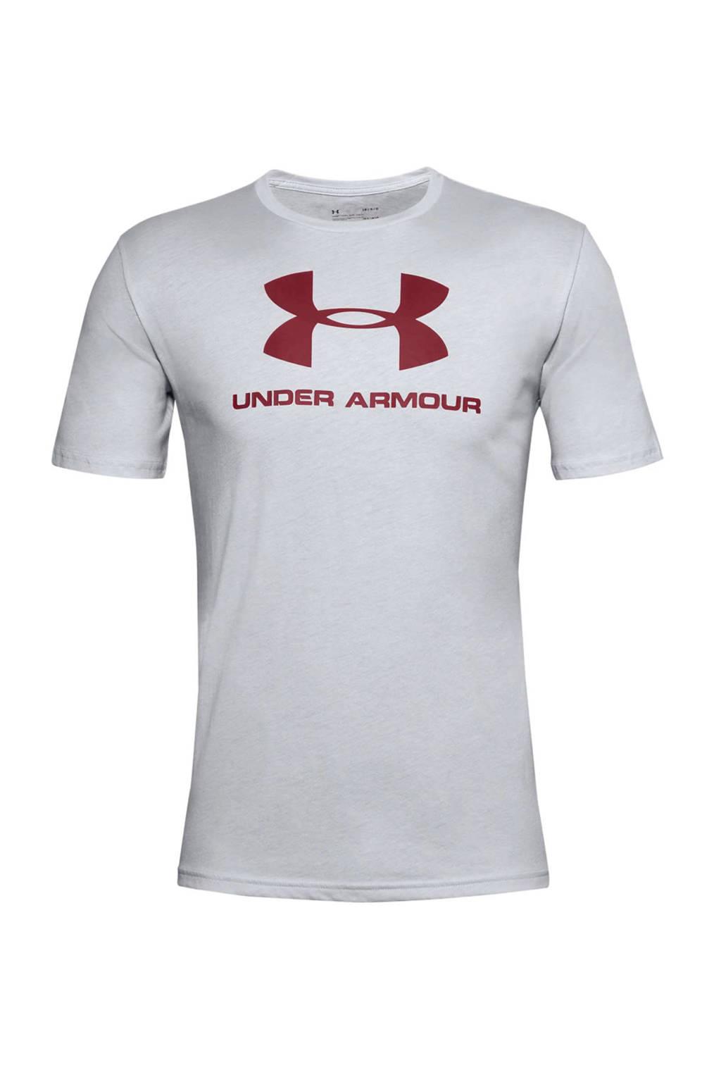 Under Armour   sport T-shirt grijs/rood, Grijs/rood
