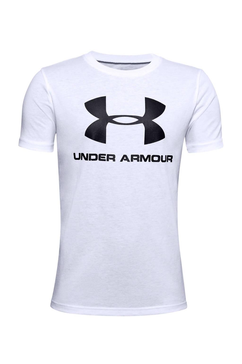 Under Armour   sport T-shirt wit, Wit