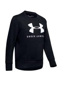 Under Armour sportsweater zwart/wit, Zwart/wit