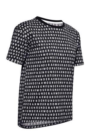 hardloop T-shirt zwart/wit