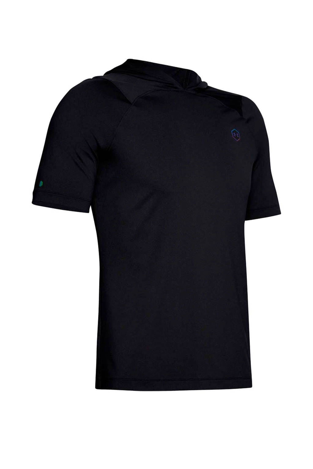 Under Armour   sportsweater met korte mouwen zwart, Zwart