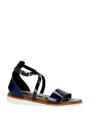 leren sandalen blauw
