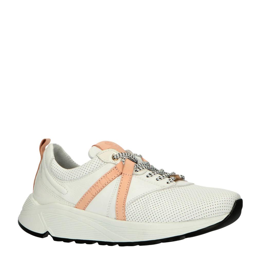 Fred de la Bretoniere   leren sneakers wit/roze, Wit/roze