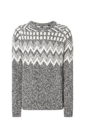 sweater met jacquard black uni