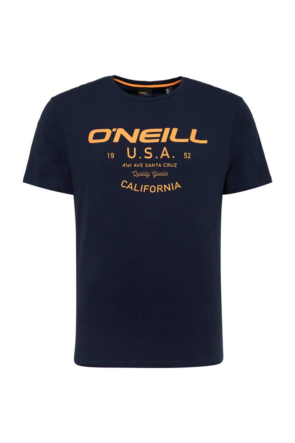 O'Neill T-shirt met printopdruk black uni, Black Uni
