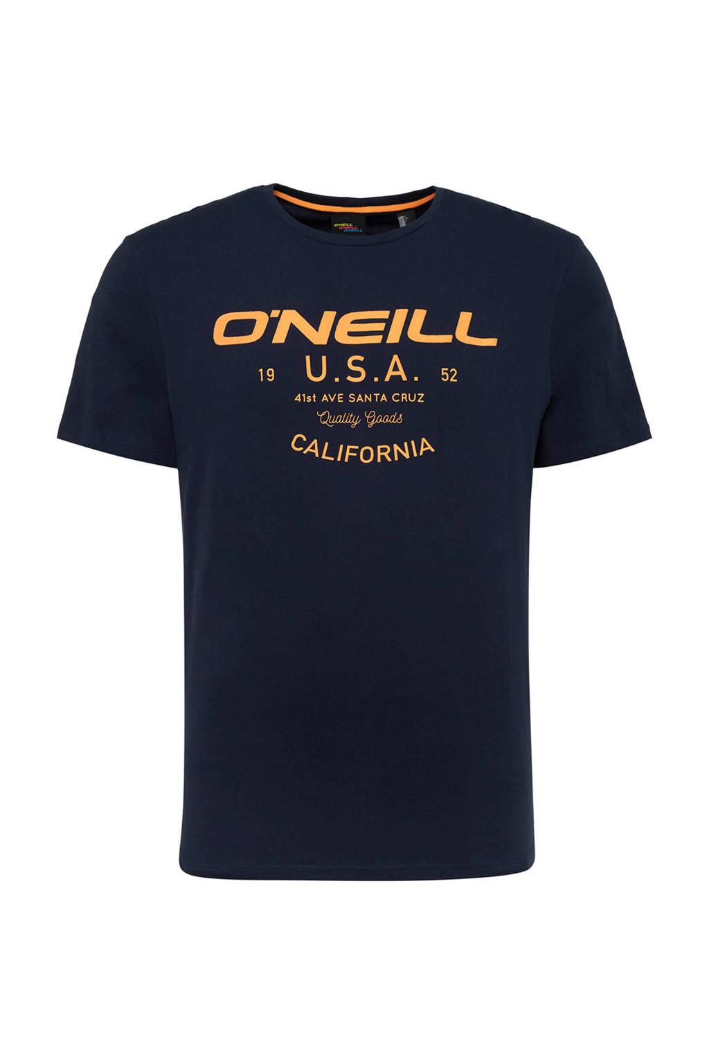 O'Neill T-shirt met printopdruk blue ink, Blue Ink