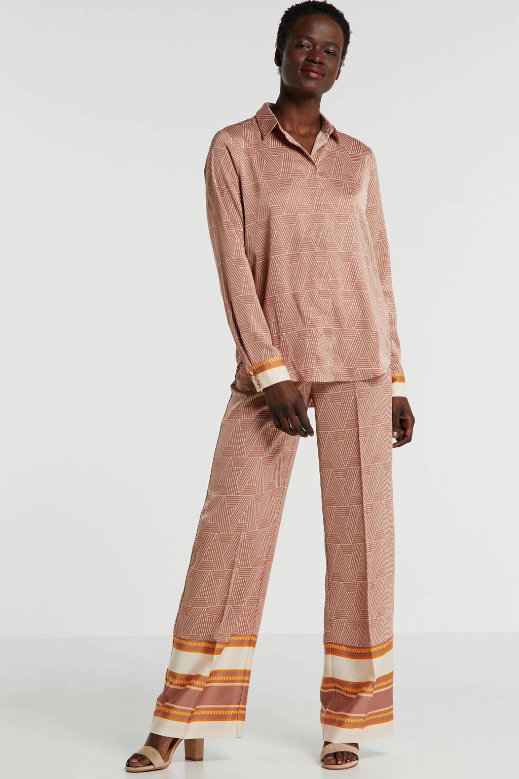 JOSH V blouse CAVINE met all over print oudroze, Oudroze