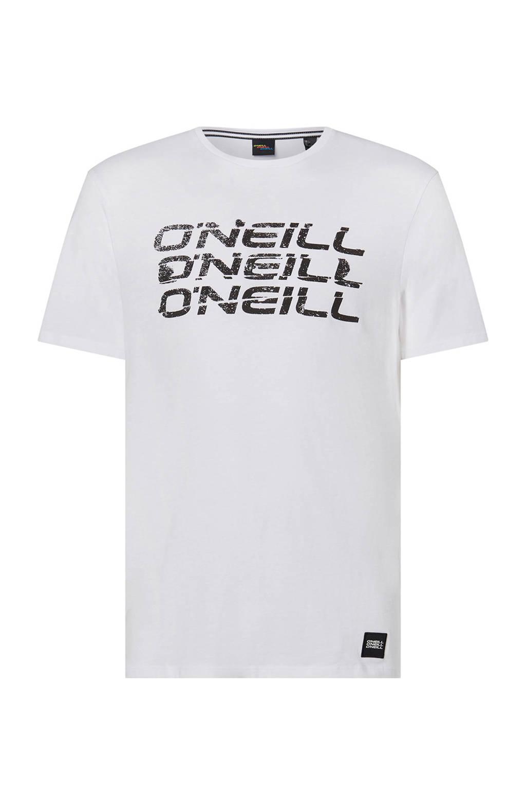O'Neill T-shirt met logo white uni, White Uni