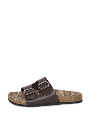 slippers donkerbruin