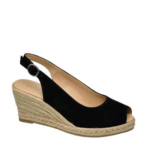 5th Avenue su??de sandalettes zwart