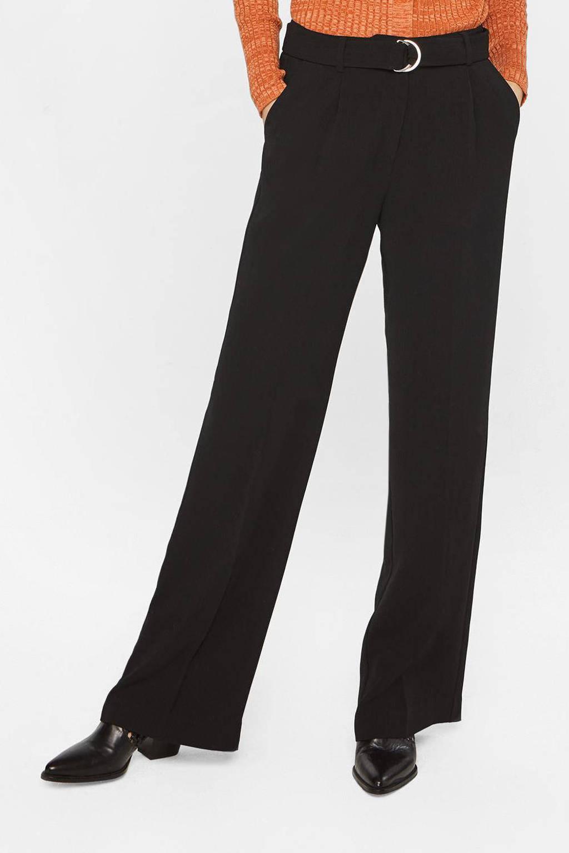 WE Fashion high waist palazzo broek zwart, Zwart