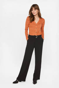 WE Fashion high waist palazzo broek zwart, Zwart