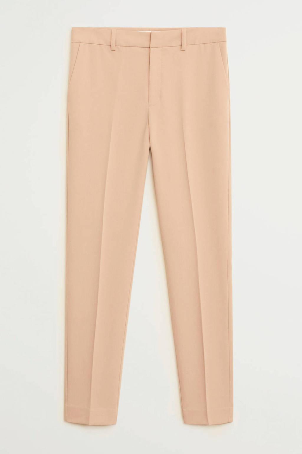 Mango straight fit pantalon lichtroze, Lichtroze